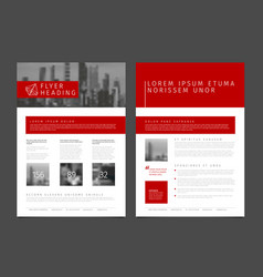 Modern brochure template flyer design template vector