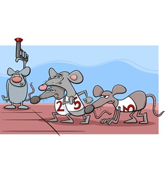 Rat race cartoon vector