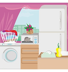 Modern kitchen vector image