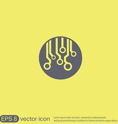 Circuit board sign icon technology scheme symbol vector