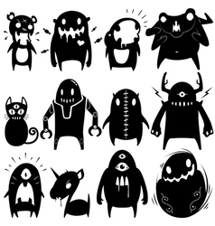Little monsters set 06 vector