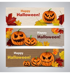 halloween headers vector image