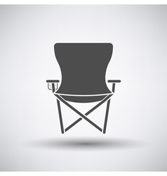 Fishing chair icon vector