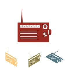 Radio silhouette icon set vector