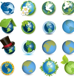global icons vector image