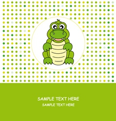Fun card animal vector