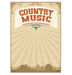 Country music festival background with american vector