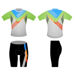 Cycling vest sports t shirt vector