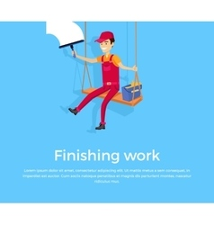 Finishing work design banner concept vector
