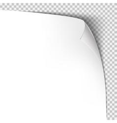 Curl corner paper template transparent grid vector