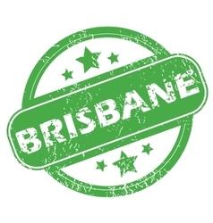 Brisbane green stamp vector