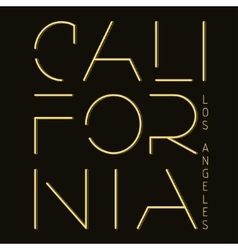 California T-shirt fashion Typography vector image