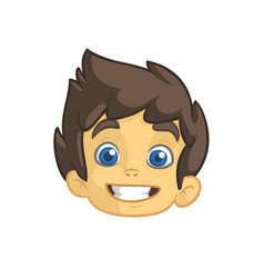 Cartoon small boy head vector