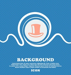 Cylinder hat sign icon blue and white abstract vector