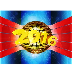 Disco ball 2016 on 3D environment vector image vector image