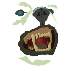 dog muzzle vector image
