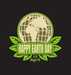 Earth day logo icon vector