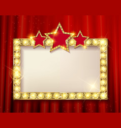 frame cinema stars vector image vector image