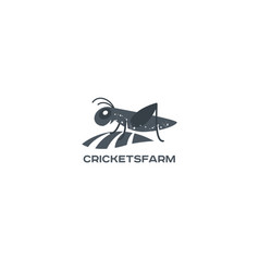 Grasshopper cricket insect logo vector