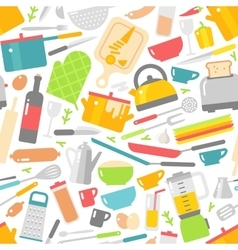 Kitchenware seamless pattern vector image