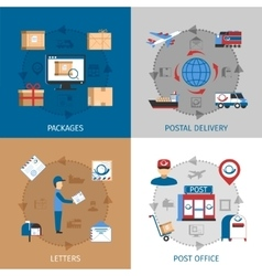 Mail Concept Icons Set vector image vector image