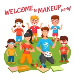 Makeup party vector
