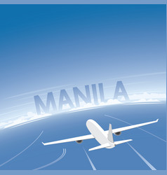 manila flight destination vector image vector image