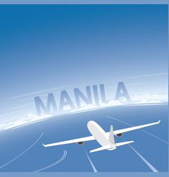 Manila flight destination vector