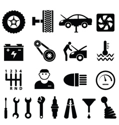 Mechanic workshop vector image vector image