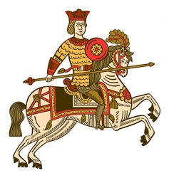 medieval knight vector image