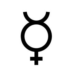 mercury symbol icon vector image