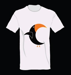 parrot on t-shirt cartoon vector image