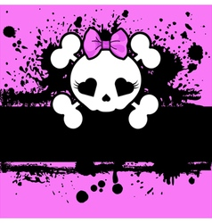 Pink Skull vector image vector image