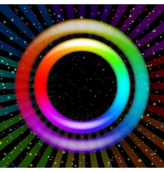 Rainbow ring background vector image