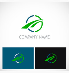 round loop arrow business logo vector image