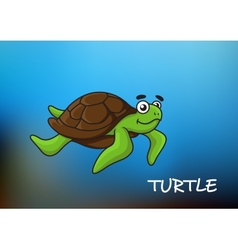 Sea turtle character vector image vector image