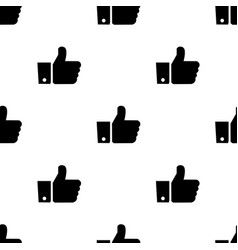 Seamless pattern with like black silhouette flat vector