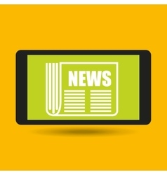 Smartphone hand hold news headline design vector