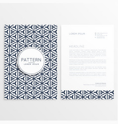 Stylish letterhead design with abstract pattern vector