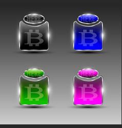 Symbols of bitcoin acceptance vector