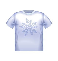 T-shirt snowflake isolated clothing white clothes vector image