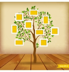 Tree and photos vector