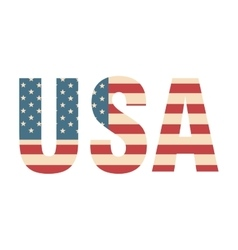 Usa word flag vector