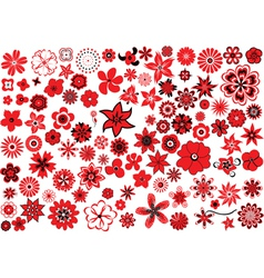 100 flowers vector image vector image