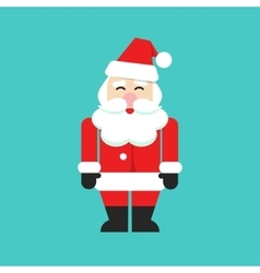 Santa claus isolated person flat cartoon vector