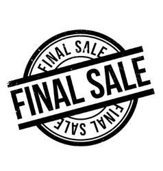 Final Sale rubber stamp vector image