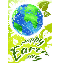 World earth day grunge style vector