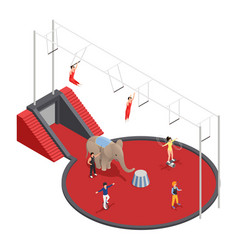 Circus manege isometric composition vector