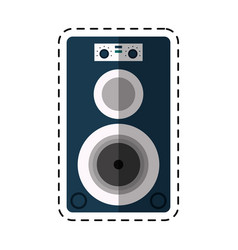 Cartoon musical speaker audio stereo vector