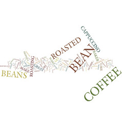 Great cappuccino text background word cloud vector